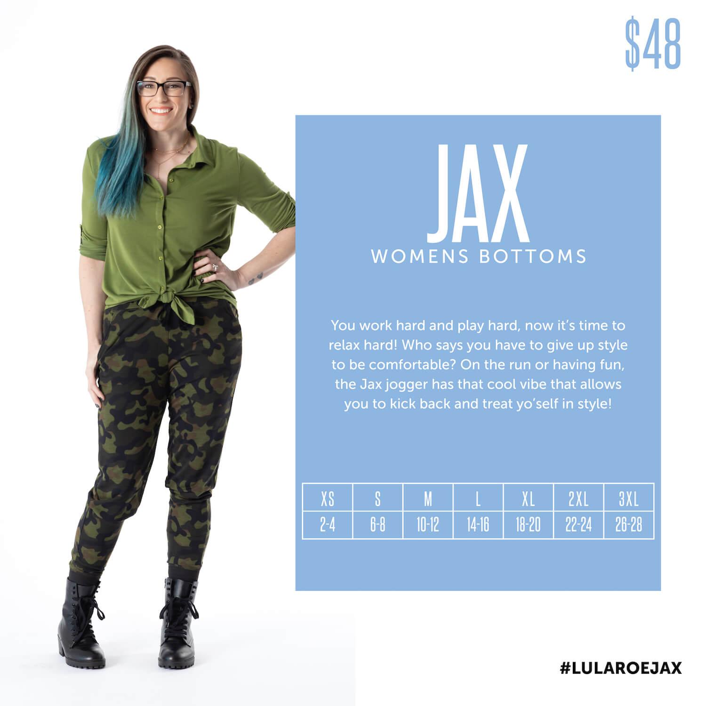 Lularoe Jax Jogger Pants Size Chart