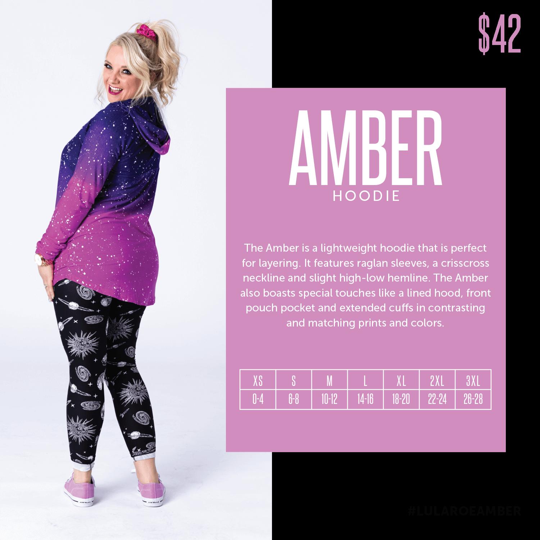 Lularoe Amber Hoodie Size Chart