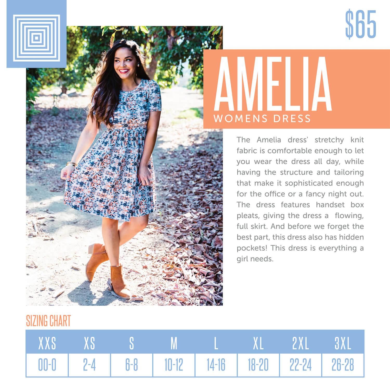 Lularoe Amelia Dress Size Chart