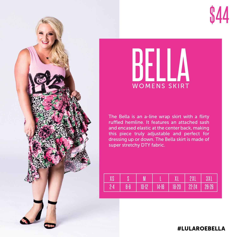 Lularoe Bella Skirt Size Chart