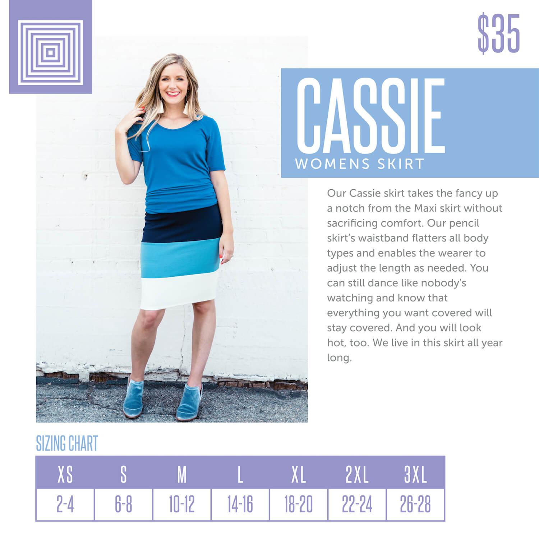 Lularoe Cassie Skirt Size Chart