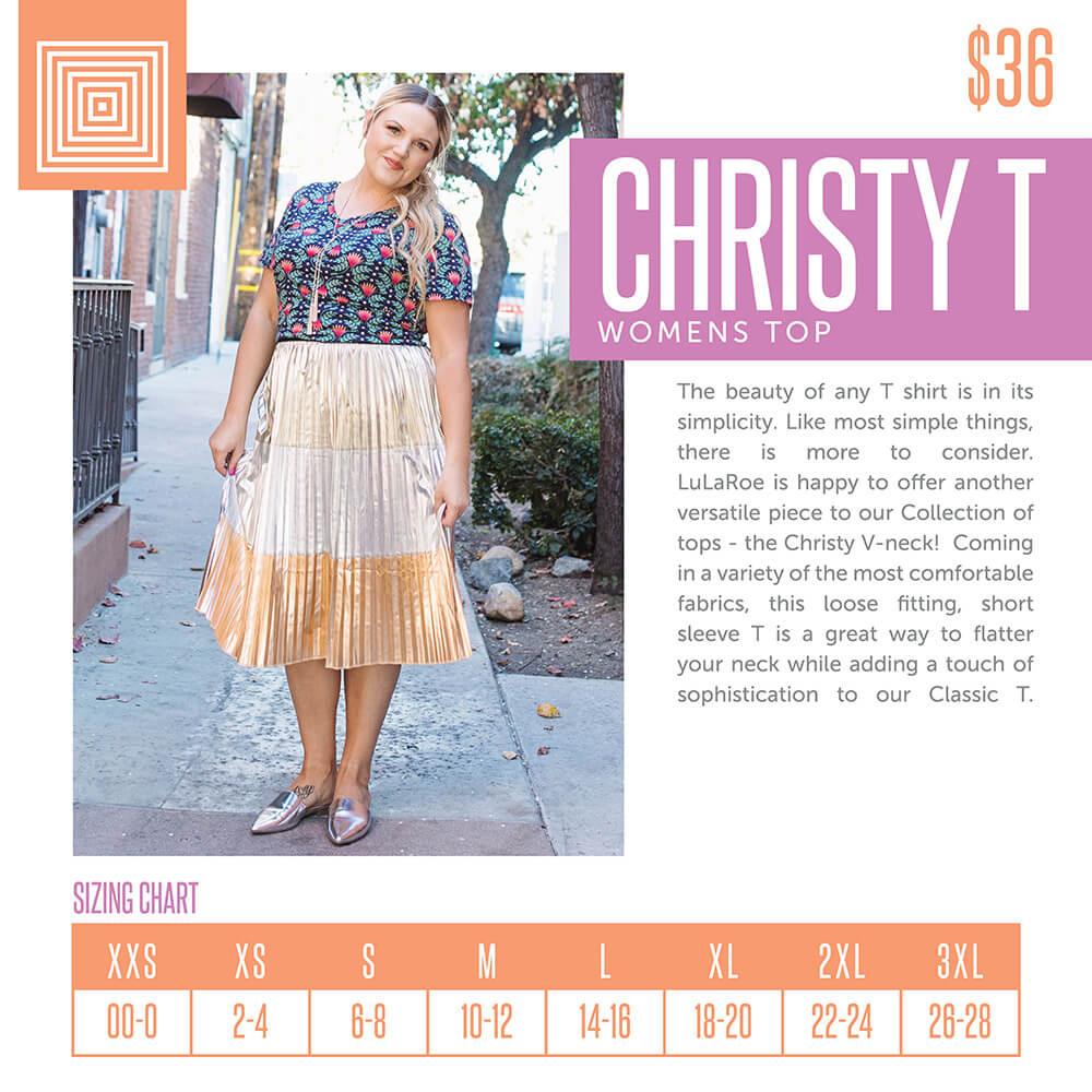 Lularoe Christy Tee Size Chart