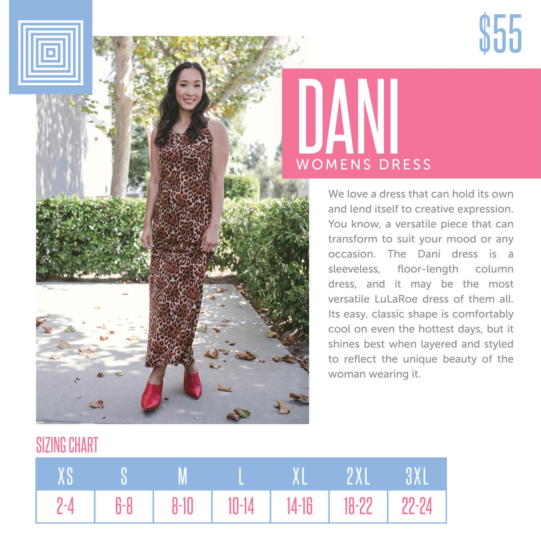 Lularoe Dani Dress Size Chart