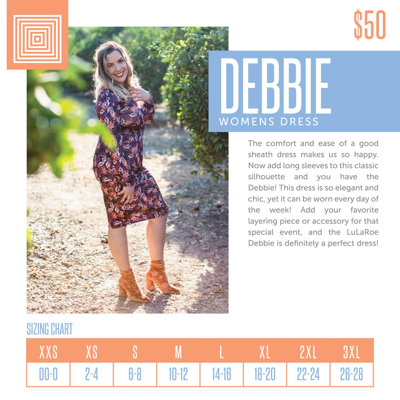 Lularoe Debbie Dress Size Chart