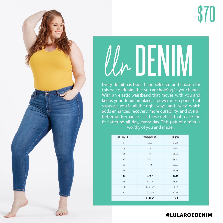 Lularoe Denim Size Chart