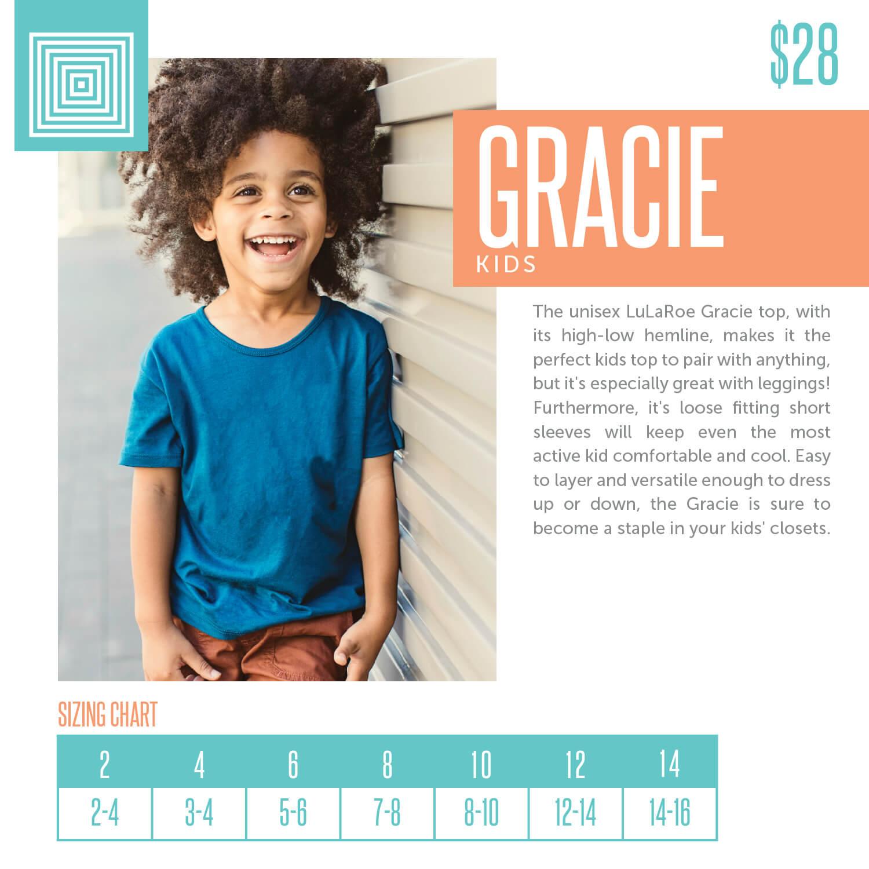 Lularoe Gracie Kids Shirt Size Chart