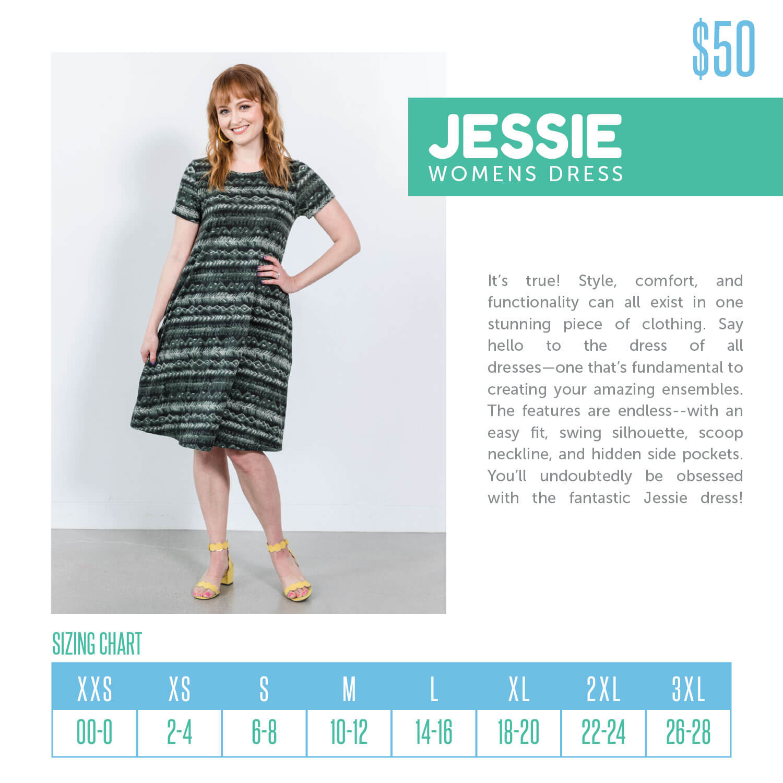 Lularoe Jessie Dress Size Chart
