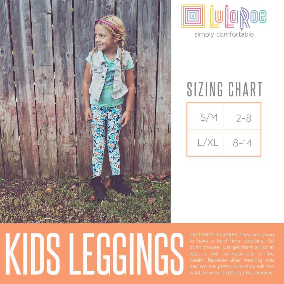 Lularoe Kids Leggings Size Chart
