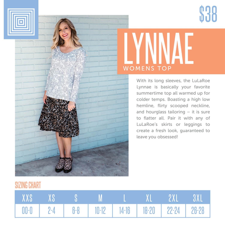 Lularoe Lynnae Top Size Chart