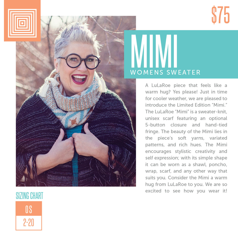 Lularoe Mimi Sweater Size Chart