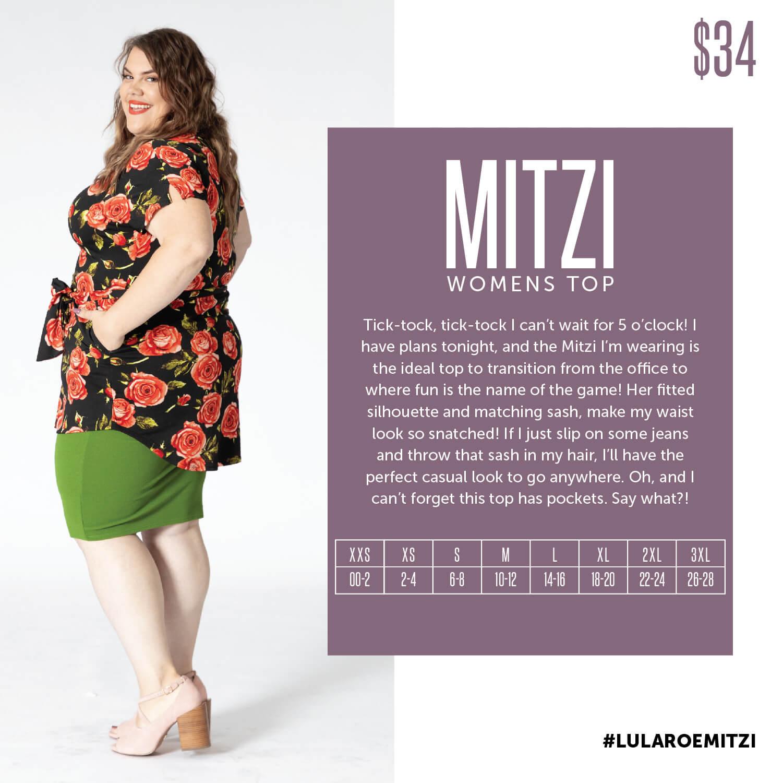 Lularoe Mitzi Top Size Chart