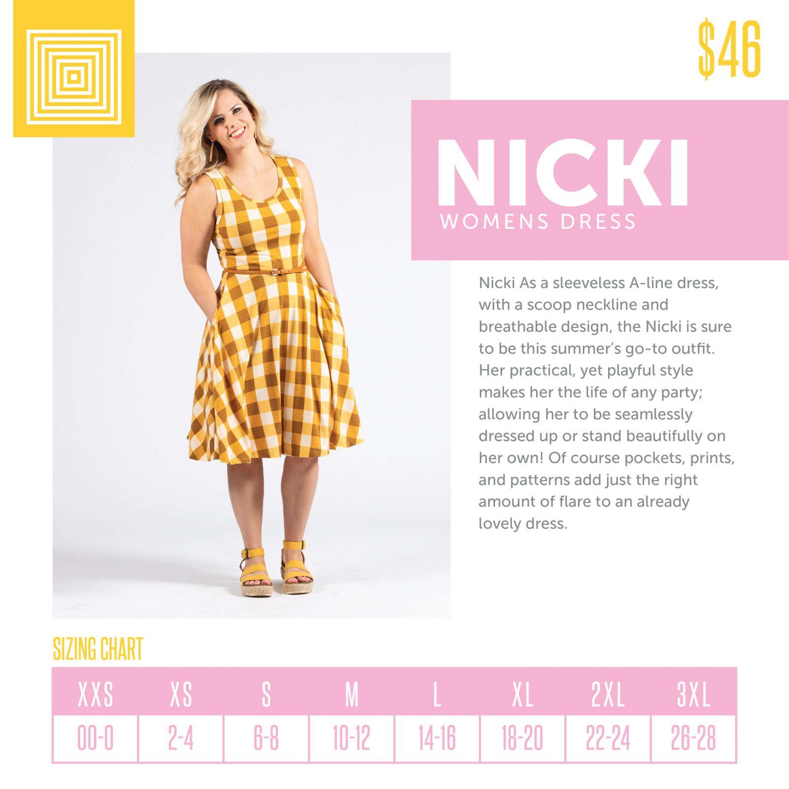 Lularoe Nicki Dress Size Chart