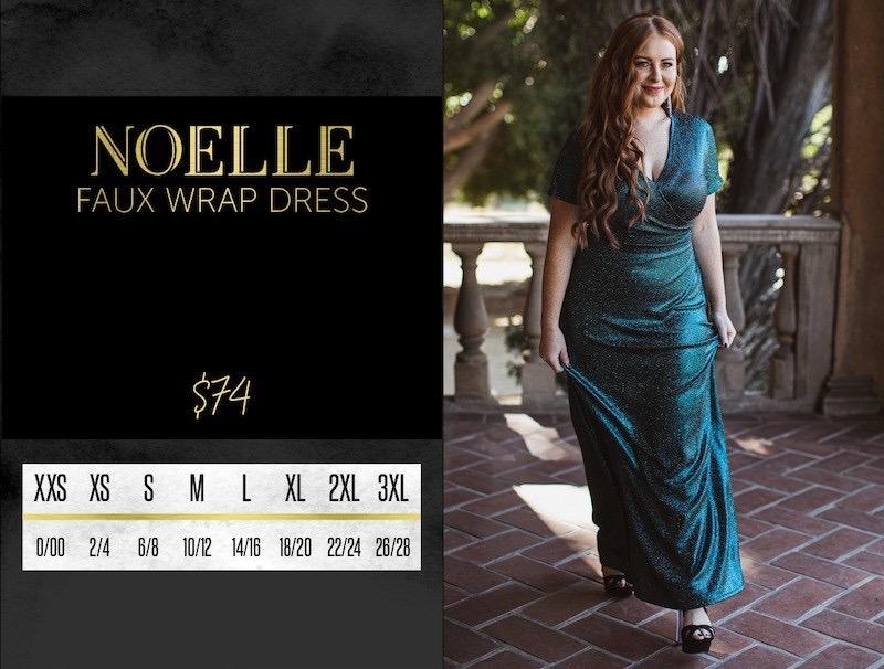 Lularoe Noelle Wrap Dress Size Chart