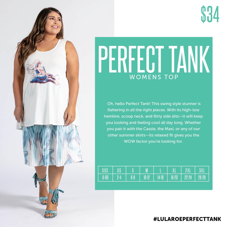 Lularoe Perfect Tank Size Chart