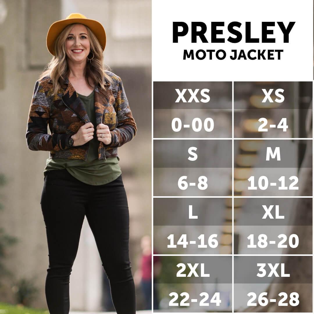 Lularoe Presley Moto Size Chart