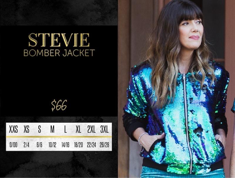 Lularoe Stevie Bomber Jacket Size Chart
