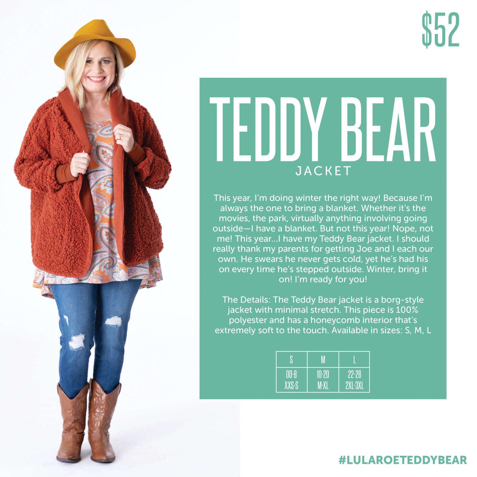 Lularoe Teddy Bear Jacket Size Chart