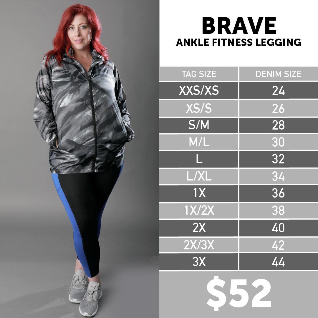 Lularoe Brave Ankle Workout Leggings Size Chart