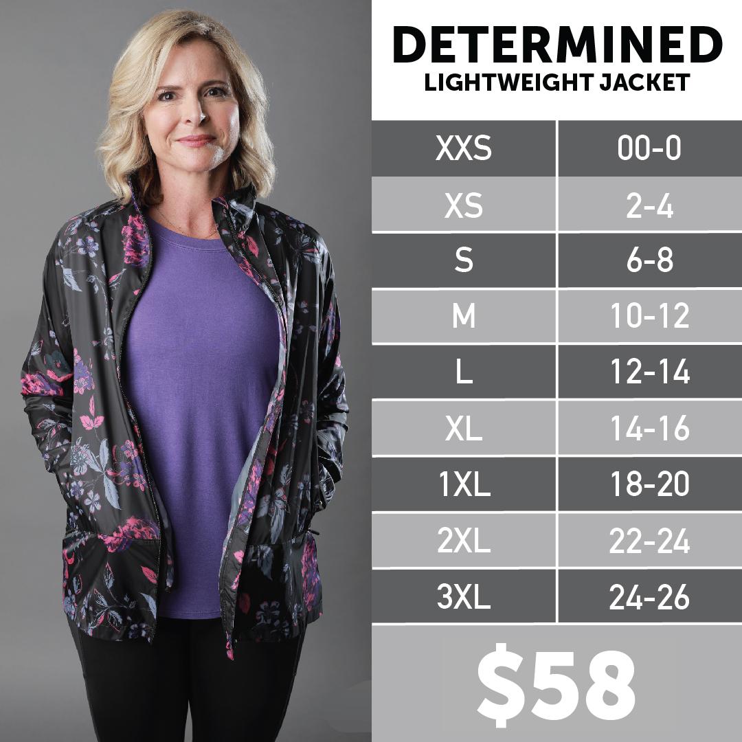 Lularoe Determined Jacket Size Chart