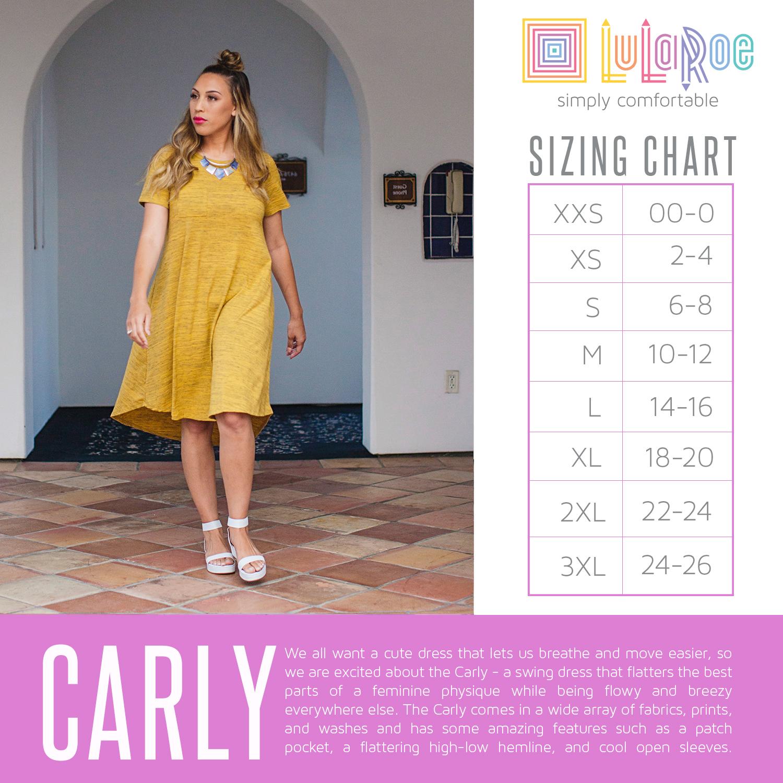 Lularoe Carly Dress Size Chart